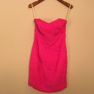 Bright Pink 100% Silk Shoshanna Dress